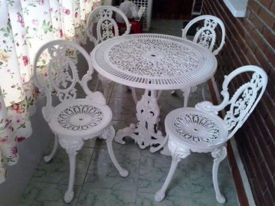 muebles de terraza mesas y sillas de jardín