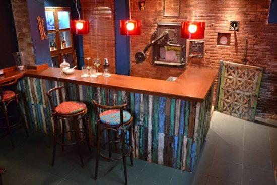 barras de madera para restaurant bar