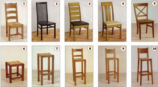 sillas de madera para cafeterías