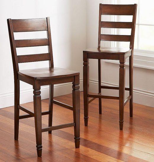 sillas de madera para barra de restaurante