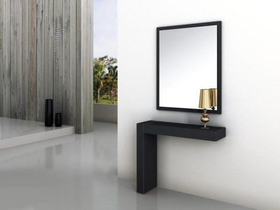 recibidor minimalista de madera