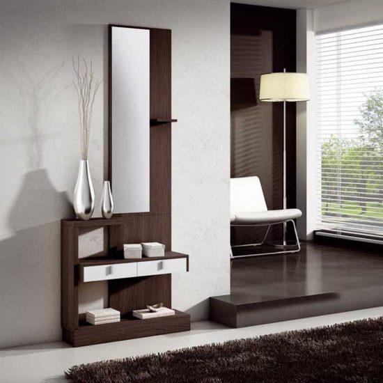 recibidores modernos de madera